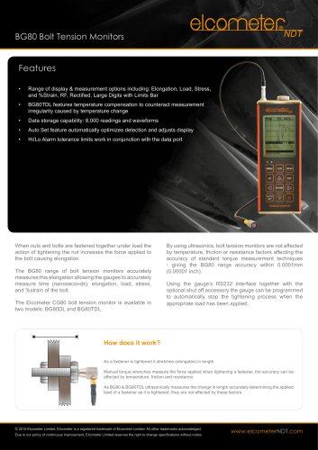 BG80 Bolt Tension Monitors