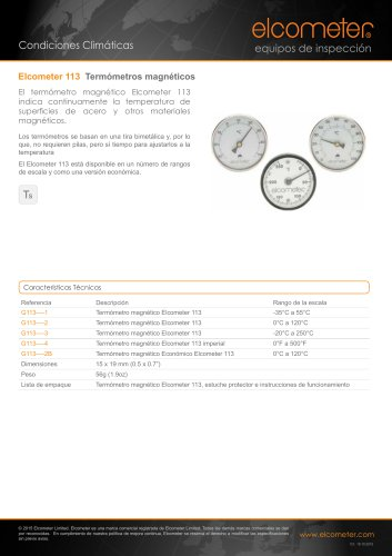 Elcometer 113 Termómetros magnéticos