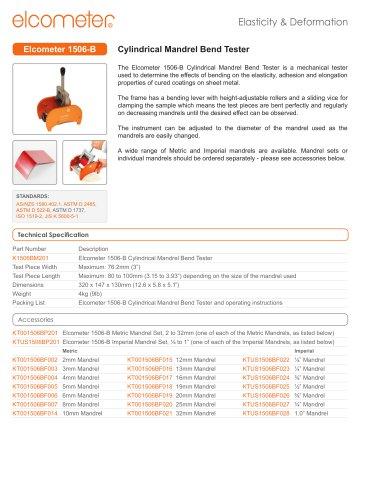 Elcometer 1506 - Mandrel Bend Tester