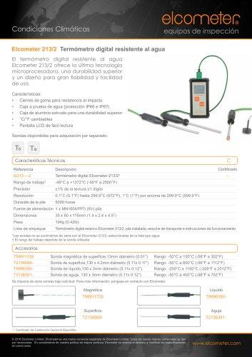 Elcometer 213/2 Termómetro digital resistente al agua