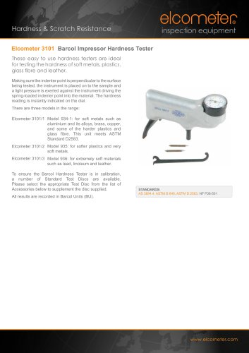 Elcometer 3101 Barcol Impressor Hardness Tester