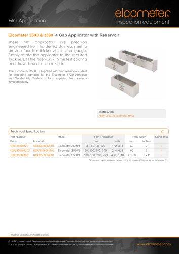 Elcometer 3508&3560 - 4 Gap Applicator with Reservoir