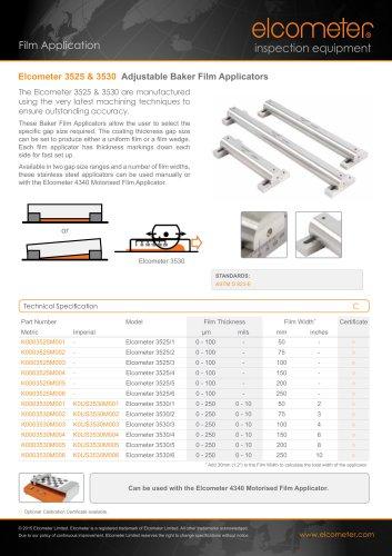 Elcometer 3525&3530 Adjustable Baker Film Applicators