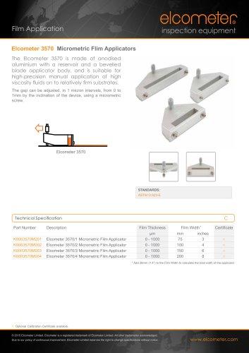 Elcometer 3570 - Micrometric Film Applicators
