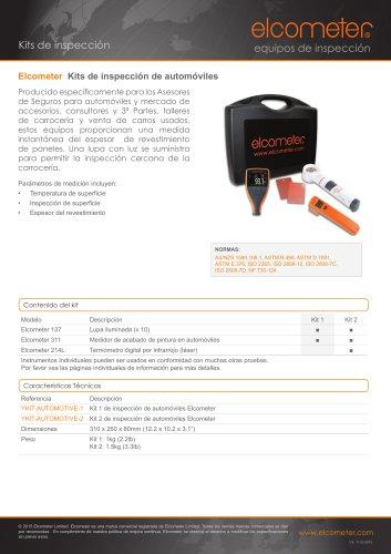 Elcometer Kits de inspección de automóviles