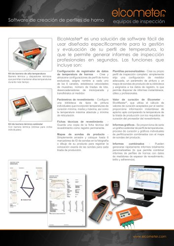 Software de creación de perfiles de horno ElcoMaster®