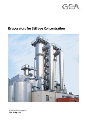 Evaporators for Stillage Concentration