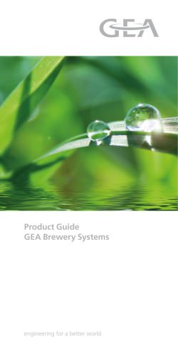 GEA ProductGuide Brewing