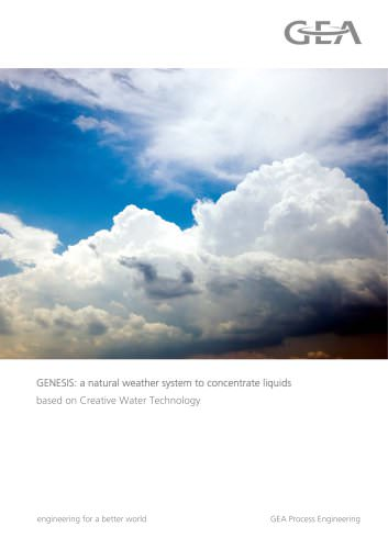GENESIS: a natural weather system to concentrate liquids based on Creative Water Technology