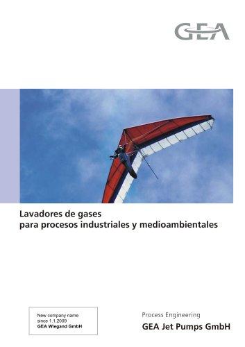 Lavadores de gases para procesos industriales y medioambientales
