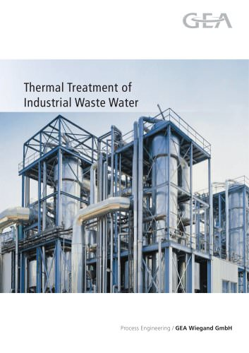 Thermal Treatment of Industrial Waste Water