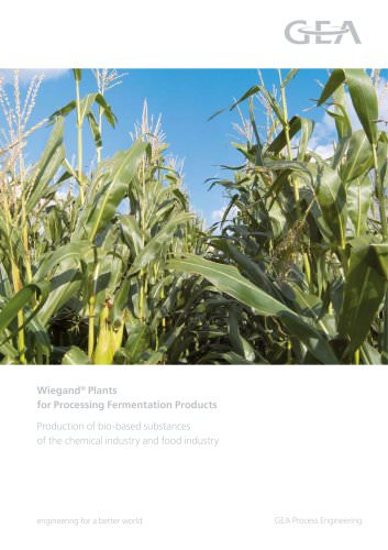 Wiegand® Plants for Processing Fermentation Products