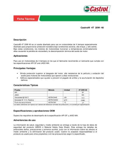 Castrol® 4T 20W- 40