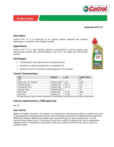 Castrol® A747 2T