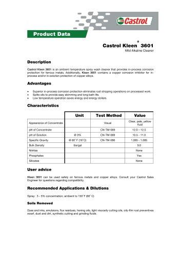 Castrol Kleen® 3601