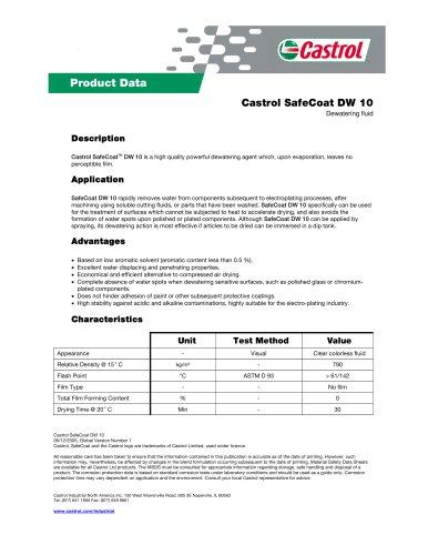 Castrol SafeCoat DW 10