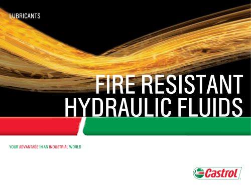 Fire Resistant Hydraulic Fluids
