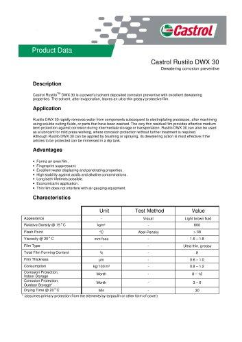 Rustilo DWX 30