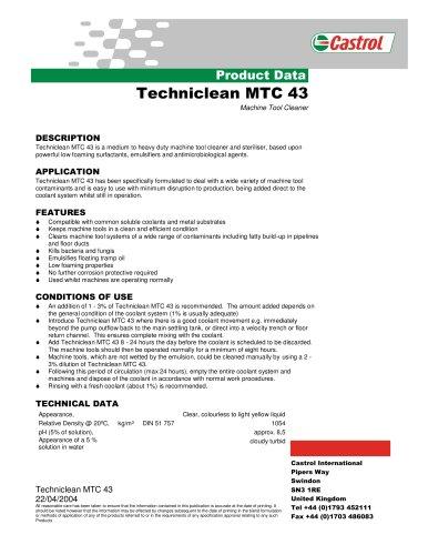 Techniclean MTC 43