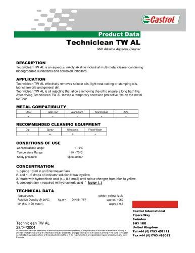 Techniclean TW AL