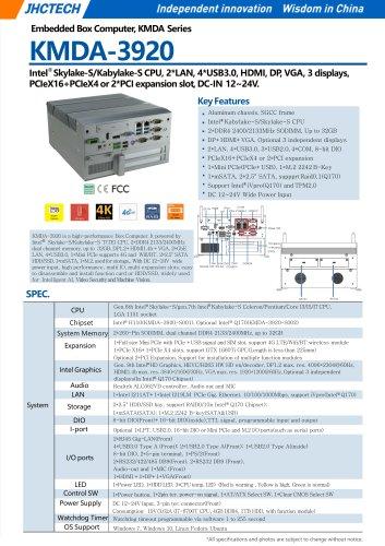KMDA-3920/Embedded Box PC/JHC