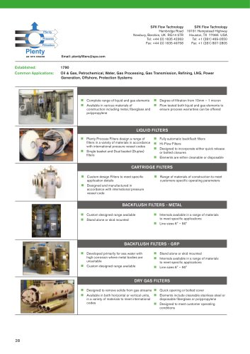 Filters, Separators and Coalescers Flyer