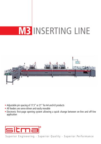M3  Automatic inserting line for newspapers and magazines
