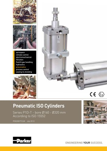 Pneumatic Cylinders - P1D-T Series Technical Catalogue PDE2667TCUK
