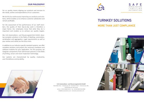 Turnkey solutions for labelling, serialisation, aggreation and automation