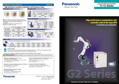 CO2/MAG Welding Robot Systems / TA-G2 Series