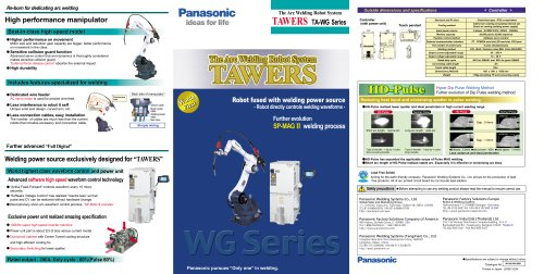 CO2/MAG Welding Robot Systems / TA-WG Series