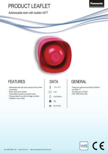 Addressable siren with isolator 4477