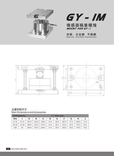 GY-1M load cell mounting