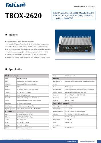 TAICENN/Box computer/TBOX-2620
