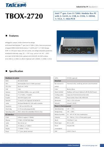 TAICENN/Box computer/TBOX-2720