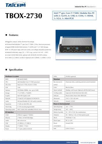 TAICENN/Box computer/TBOX-2730