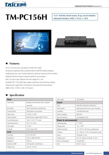 TAICENN/Industrial monitor/TM-PC156H