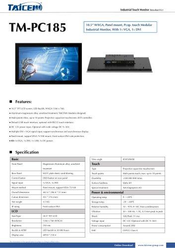 TAICENN/Industrial monitor/TM-PC185