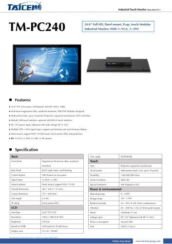 TAICENN/Industrial monitor/TM-PC240