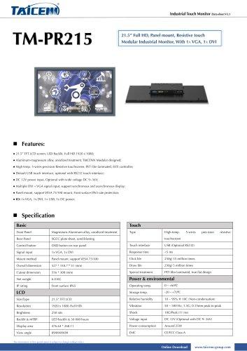 TAICENN/industrial monitor/TM-PR215