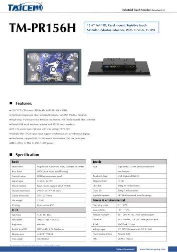 TAICENN/Touch monitor/TM-PR156H