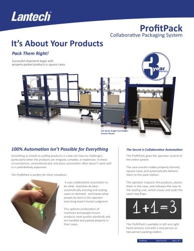 ProfitPack / Collaborative Packaging System