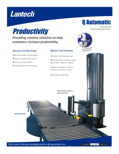 Q Automatic / Conveyorized Stretch  Wrapping System