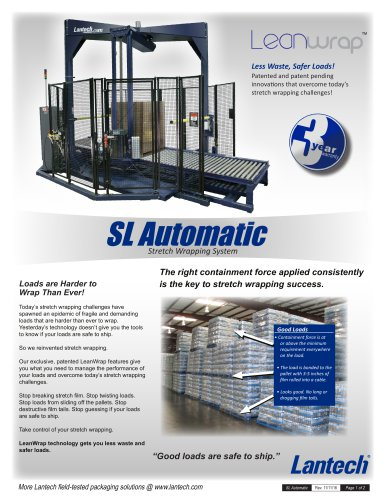 SL Automatic Stretch Wrappers
