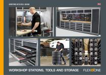 FLEXIONE workshop stations, tools and storage