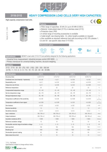 3110-3115 : HEAVY COMPRESSION LOAD CELLS