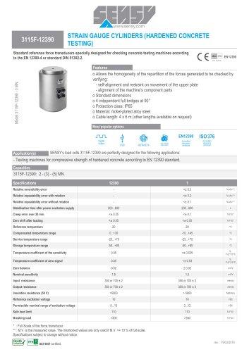 3115F-12390 : STRAIN GAUGE CYLINDERS (HARDENED CONCRETE TESTING)