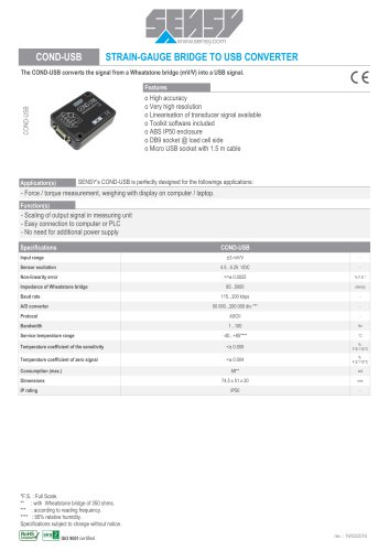 COND-USB : TRAIN-GAUGE BRIDGE TO USB CONVERTER