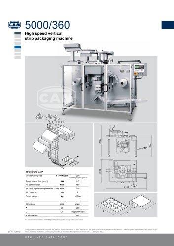 5000/360 Vertical Strip Packing Machine