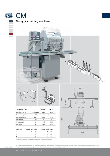 CM slat-type counting machine